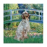 Bridge / English Setter Tile Coaster