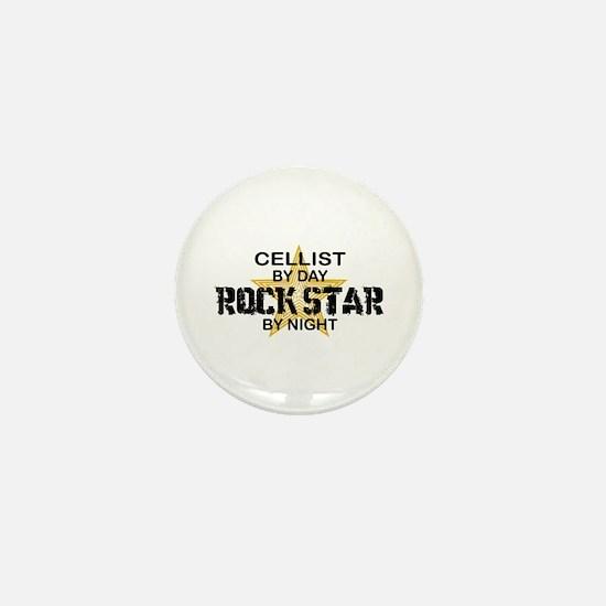 Cellist Rock Star Mini Button