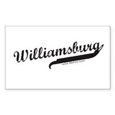Williamsburg Rectangle Decal