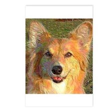 Sun-kissed Fluffy Corgi Postcards (Package of 8)