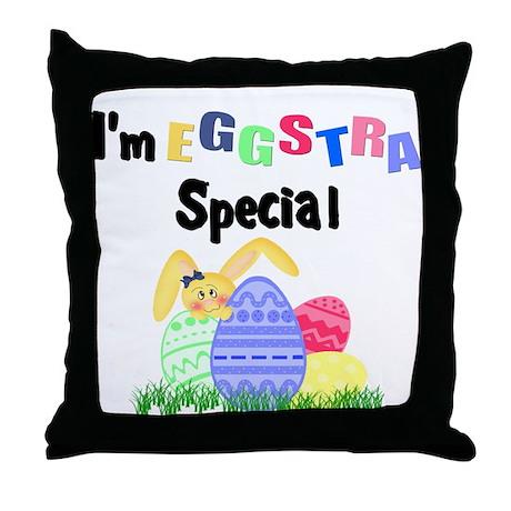 Eggstra Special Throw Pillow