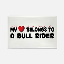 Belongs To A Bull Rider Rectangle Magnet