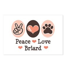Peace Love Briard Postcards (Package of 8)
