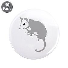 "Possum Silhouette 3.5"" Button (10 pack)"