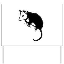 Possum Silhouette Yard Sign