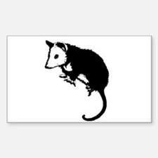 Possum Silhouette Rectangle Decal