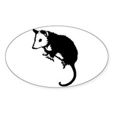 Possum Silhouette Oval Decal