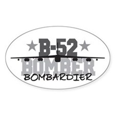 B-52 Aviation Bombardier Oval Decal