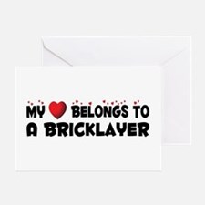 Belongs To A Bricklayer Greeting Card