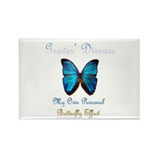 Graves' Disease Butterfly Effect Rectangle Magnet