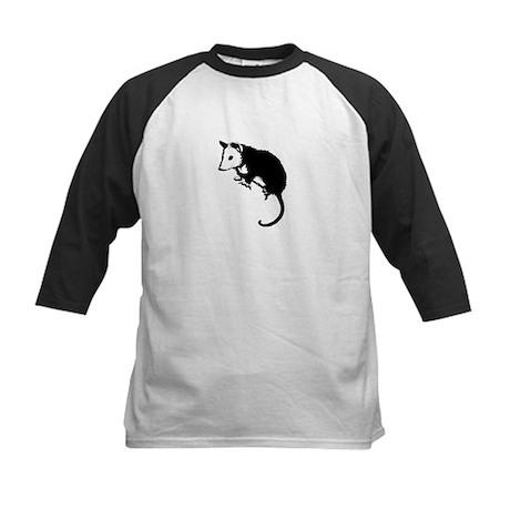 Possum Silhouette Kids Baseball Jersey