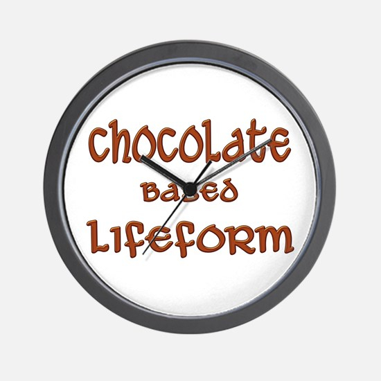 Chocolate Based Lifeform Wall Clock
