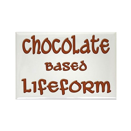 Chocolate Based Lifeform Rectangle Magnet (10 pack