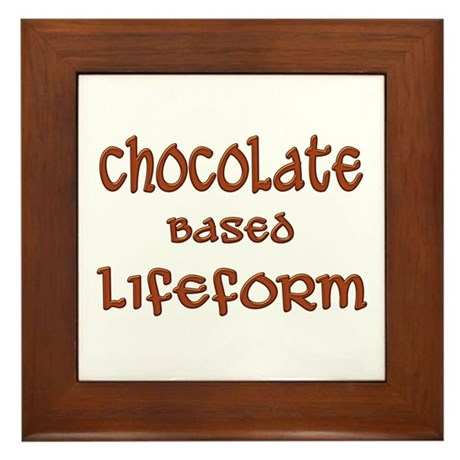 Chocolate Based Lifeform Framed Tile