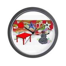 Obama Table Snowman (2) Wall Clock