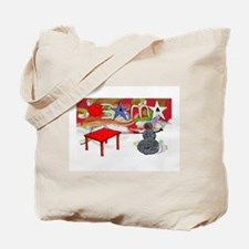 Obama Table Snowman (2) Tote Bag