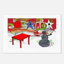 Obama Table Snowman (2) Postcards (Package of 8)