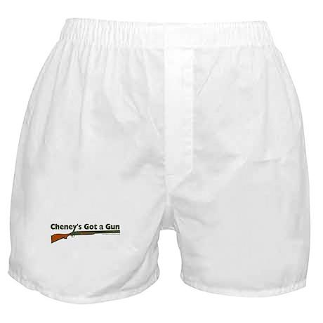 Cheney's got a gun Boxer Shorts