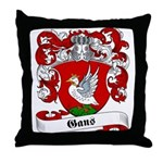 Gans Family Crest Throw Pillow
