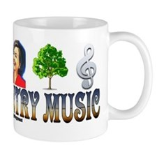 #0163 I LOVE COUNTRY MUSIC (HILLARY) Mug
