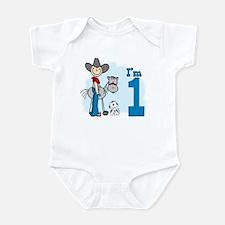 Stick Cowboy First Birthday Infant Bodysuit