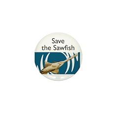 Save the Sawfish small marine biology pin