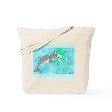 Mermaid & Dolphin Tote Bag