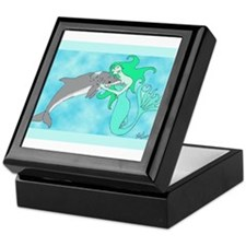 Mermaid & Dolphin Keepsake Box