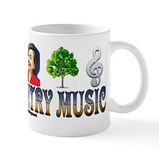 #0163 I LOVE COUNTRY MUSIC (HILLARY) Mug