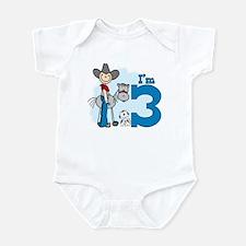Stick Cowboy 3rd Birthday Infant Bodysuit