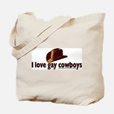 Love Gay Coboys Tote Bag
