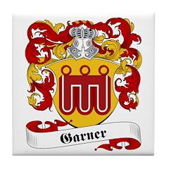 Garner Family Crest Tile Coaster