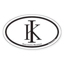 Kent Island KI Euro Oval Decal