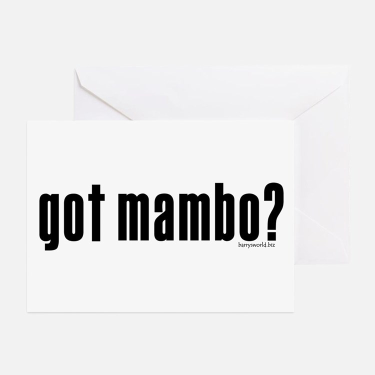 got mambo? Greeting Cards (Pk of 20)