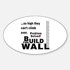 Build the Wall Oval Decal