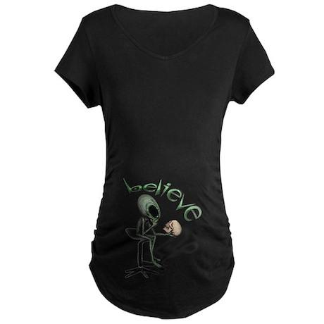 Alien Thinker 13 Maternity Dark T-Shirt