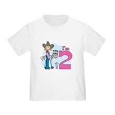 Stick Cowgirl 2nd Birthday T