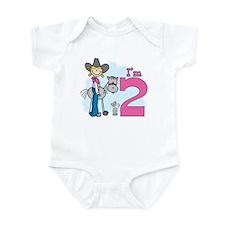 Stick Cowgirl 2nd Birthday Infant Bodysuit