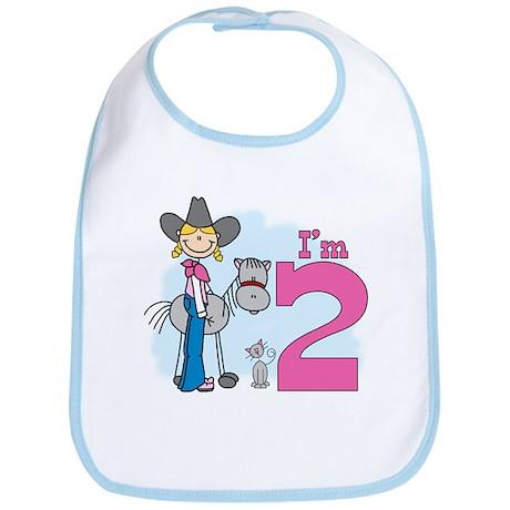 Stick Cowgirl 2nd Birthday Bib