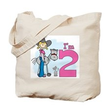Stick Cowgirl 2nd Birthday Tote Bag