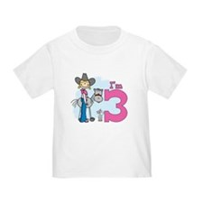 Stick Cowgirl 3rd Birthday T