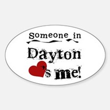 Dayton Loves Me Oval Decal