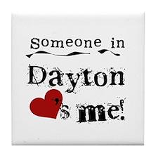 Dayton Loves Me Tile Coaster
