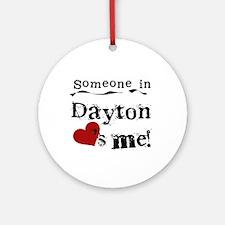 Dayton Loves Me Ornament (Round)