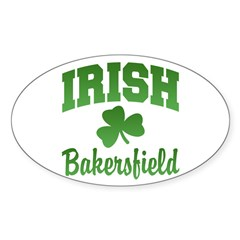 Bakersfield Irish Oval Sticker