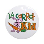 24 Carrot Kid Ornament (Round)