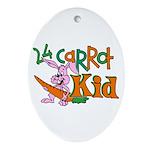 24 Carrot Kid Oval Ornament