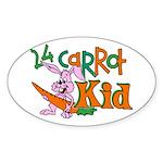 24 Carrot Kid Oval Sticker