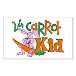 24 Carrot Kid Rectangle Sticker