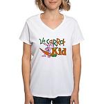 24 Carrot Kid Women's V-Neck T-Shirt